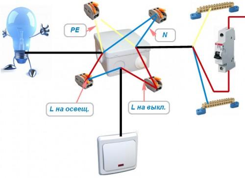 Схема подключения проводов с