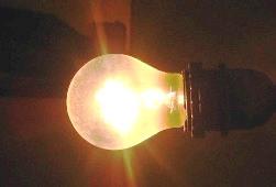 работающая лампа накаливания