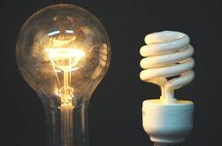 энергосберегающая и лампа накаливания