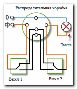 2 клавишный выключатель схема фото 337