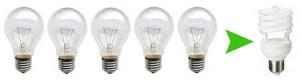 обычные и энергосберегающие лампы