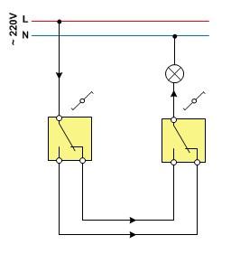 схема переходных выключателей