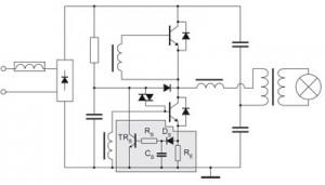 Cхема трансформатора для галогеновых ламп